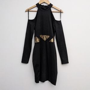 Star Wars Cold Shoulder Long Sleeve Bodycon Dress M